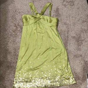 Olive Dress with Sequins by BCBGMaxazria